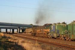 T374 and H2 headed under the Princes Highway bridge