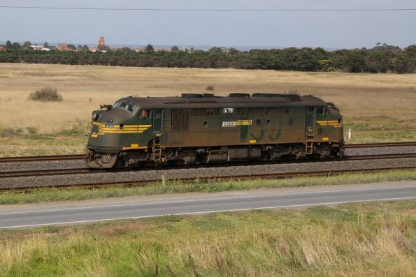 A79 headed back to Melbourne: I think it took some wagons to North Geelong Yard for scrapping