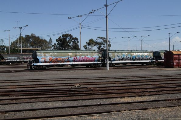 WGBY grain wagons stored at North Geelong Yard