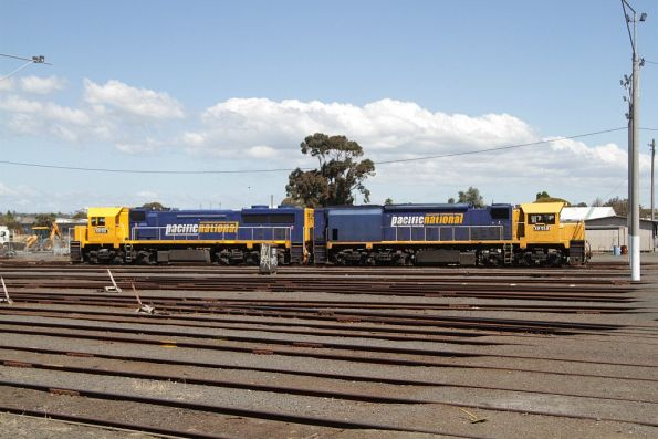 XR551 and XR558 stabled at North Geelong Yard