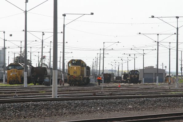 H1 shunting wagons at North Geelong C