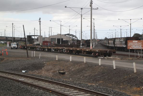 Wagons under repair at North Geelong Yard