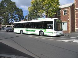 Benders #113 5869AO departs the Little Malop Street interchange on a route 19 service