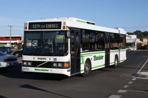 Benders bus #92 rego 4357AO pulls into Lara station with a route 12 service