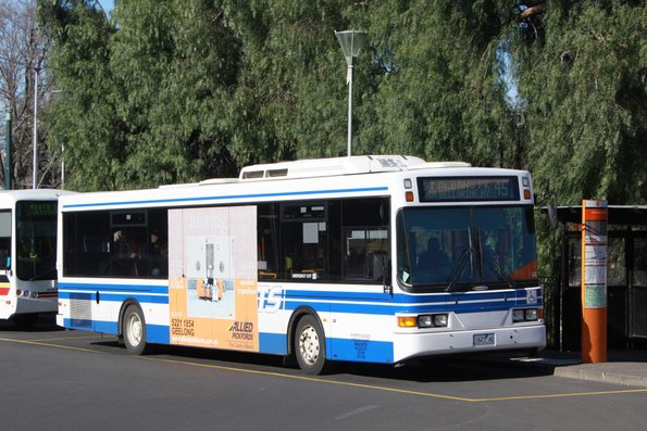McHarry's #127 rego 1627AO in GTS livery on route 45 at Geelong Station