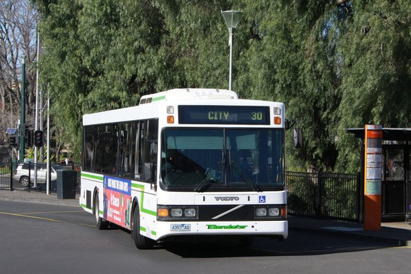 Benders bus #30 4357AO on route 30 at Geelong station