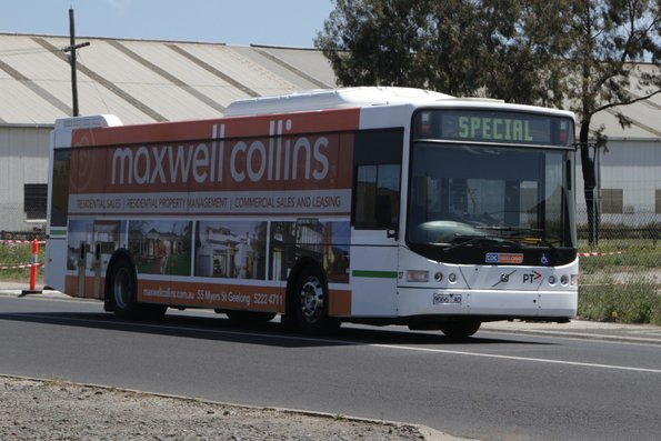 CDC Geelong bus #139 9066AO heads north on Douro Street in North Geelong