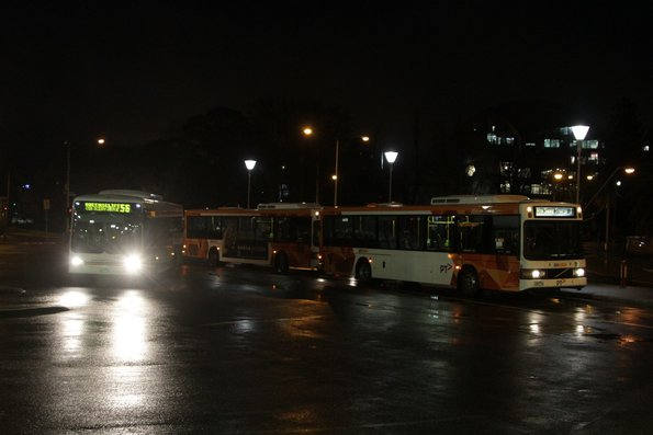 Collection of CDC Geelong and McHarry's buses at Geelong station