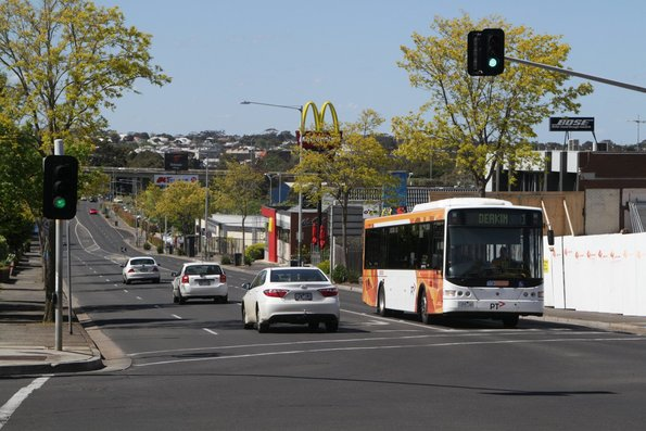 CDC Geelong 7388AO on route 1 heads south on High Street, Belmont