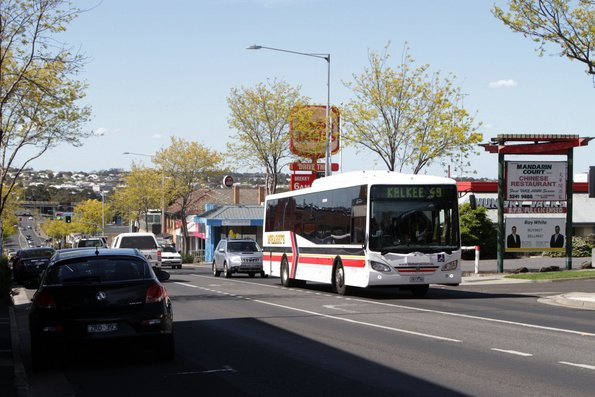 McHarry's 1617AO on route 49 heads south on High Street, Belmont