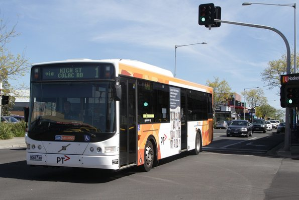 CDC Geelong 9066AO on route 1 heads north on High Street, Belmont