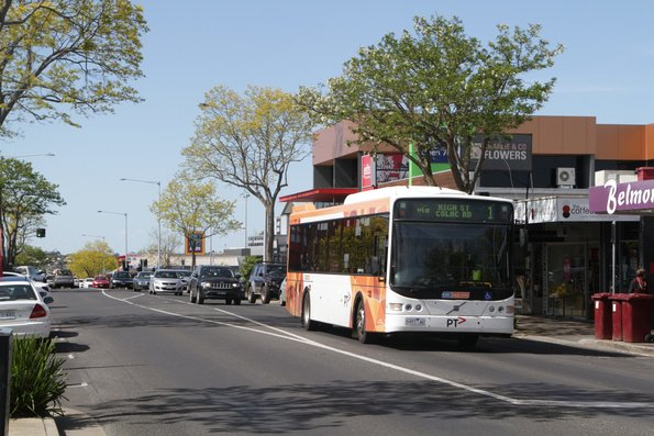 CDC Geelong 9497AO on route 1 heads south on High Street, Belmont