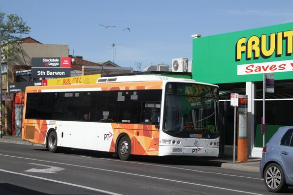 CDC Geelong 5385AO on route 1 heads south on High Street, Belmont