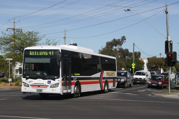 McHarry's BS01DU on route 41 heads north on Corio Street, Belmont