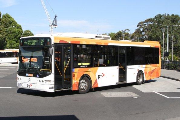 CDC Geelong bus #114 6075AO on route 25 at Geelong station