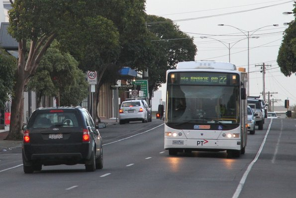 CDC Geelong bus 5424AO on a route 22 service on Pakington Street Geelong West