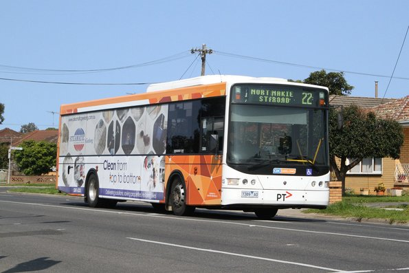 CDC Geelong bus #123 7389AO on a route 22 service along Anakie Road