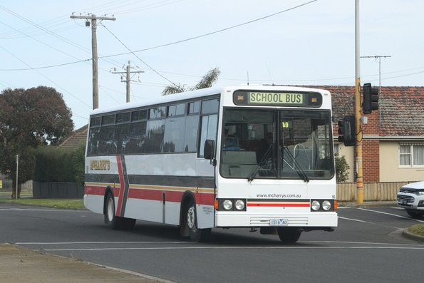McHarry's bus #16 1516AO on a school run on Cox Road