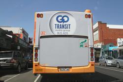 'Go Transit' advertisement on the rear of CDC Geelong bus #129 8175AO