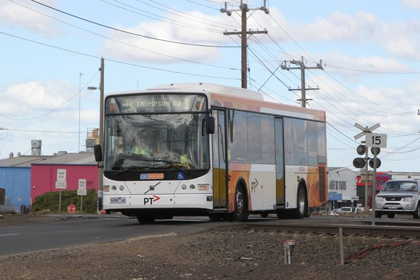 CDC Geelong bus #142 9498AO on route 1 at Thompson Road, North Geelong
