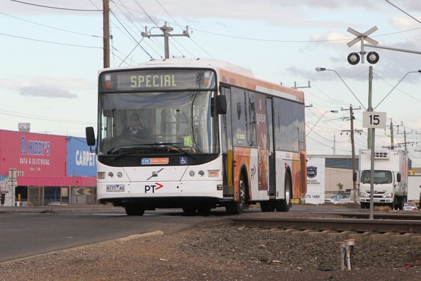 CDC Geelong bus 8177AO out of service on Thompson Road, North Geelong