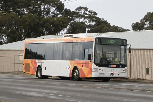CDC Geelong bus #114 6075AO on route 1 at Thompson Road, North Geelong