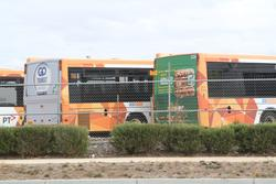 CDC Geelong bus 3420AO in the CDC Melbourne Wyndham depot