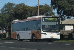 CDC Geelong bus #161 BS04MJ on route 23 at North Shore station