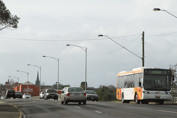 CDC Geelong bus #169 BS04FK on a route 1 service over the Barwon Bridge
