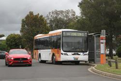 CDC Geelong bus #160 BS04MI on route 1 at South Geelong station