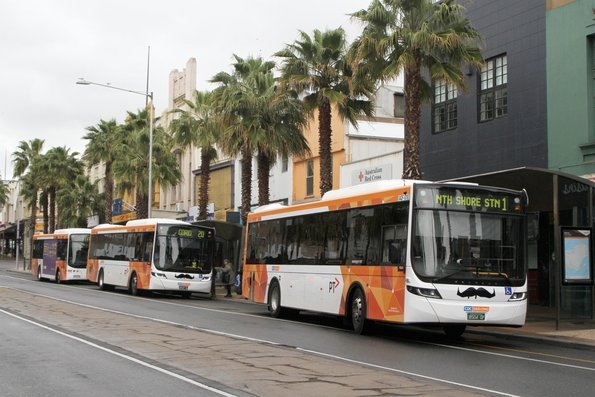 Trio of CDC Geelong buses at the Moorabool Street interchange