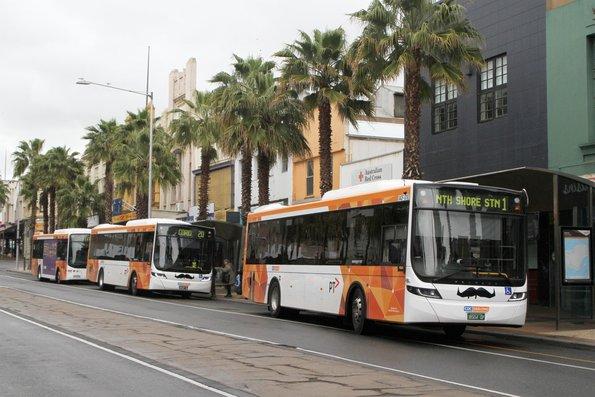 Trio of CDC Geelong buses at the Moorabool Street interchange