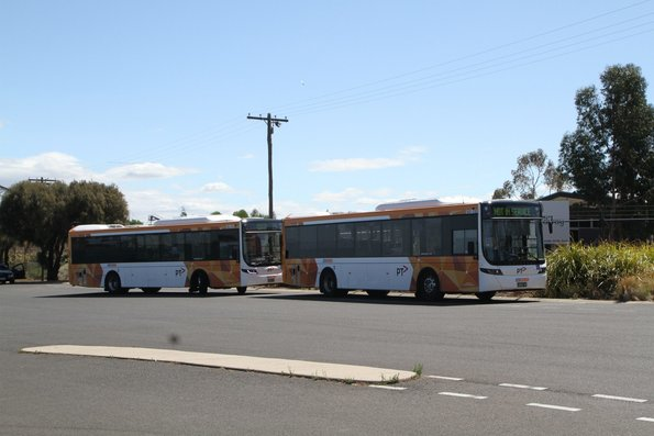 CDC Geelong buses #151 BS03DJ and #163 BS04QF at the route 23 terminus in North Shore