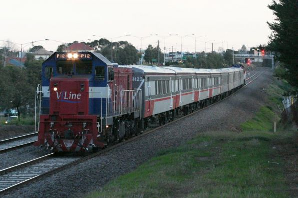 P12 with FSH23 / FSH25 on a football special at North Geelong