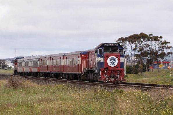 P13 headed out of Geelong at Corio