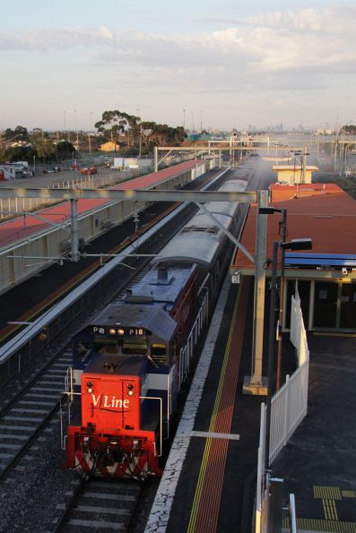 P18 blasts through Laverton on a down football special