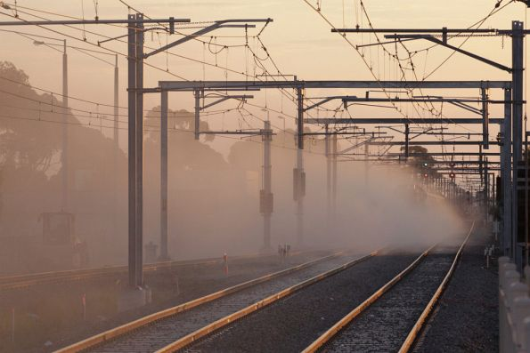 Disappeared into a cloud of dust, from the track slew and new set of points installed