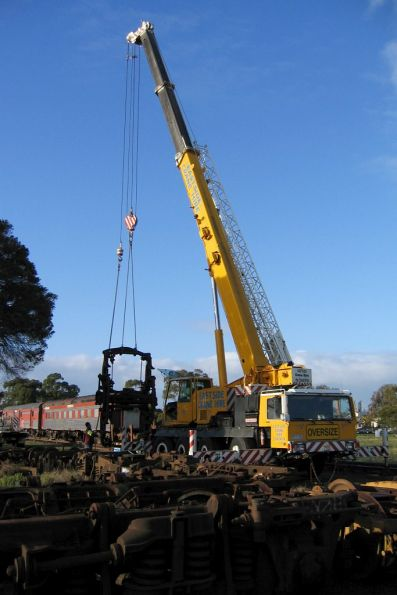 Moving bogies at South Geelong