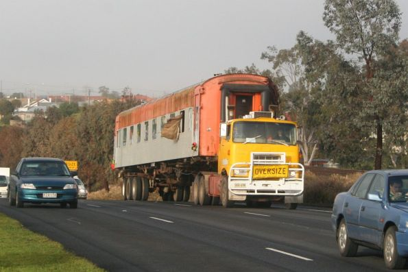 BS203 on the road at North Geelong, bound for SRHC