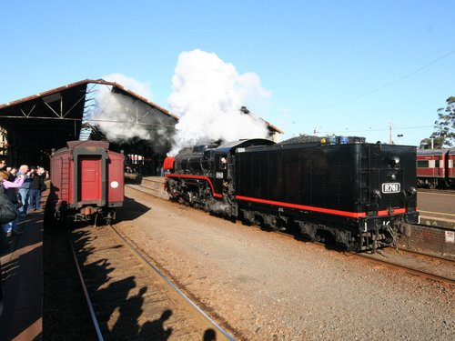 R761 off the train and headed for the turntable