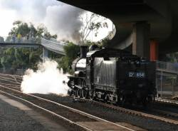 D3 658 returning from Geelong Loco