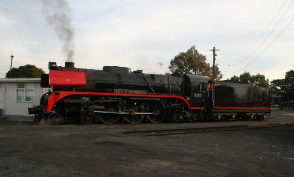R707 on the 'table at Geelong Loco
