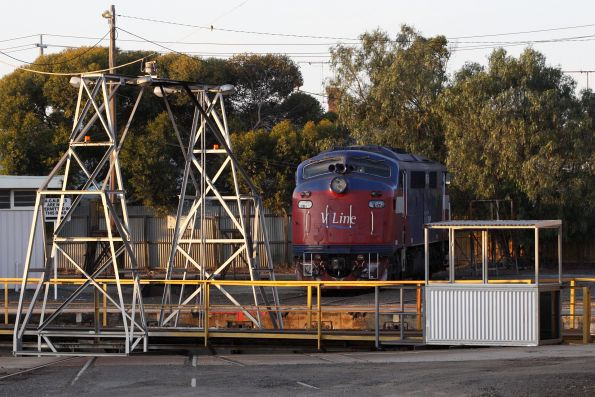 A62 stabled at 'Tracy Island', down in Geelong to assist with the derailment recovery operation at Stonyford