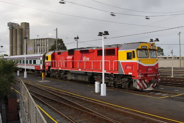 Still stabled in Geelong, N458 and FN set should have returned back to Melbourne
