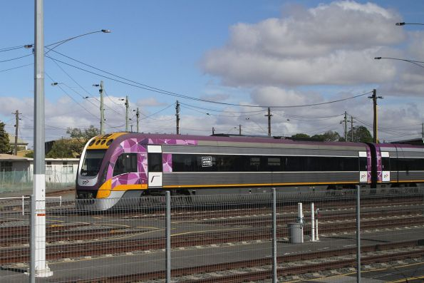 VLocity VL07 stabled at Geelong Loco