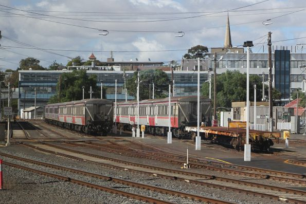 Carriage sets SSH26 and SH31 stabled at Geelong for the weekend