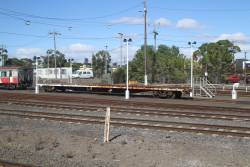 Shunters float stabled at the Geelong carriage yards