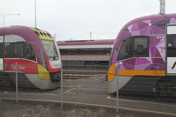 VLocity VL43 and VL73 stabled at Geelong