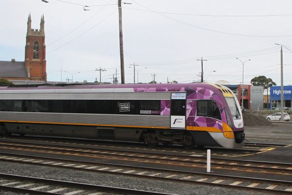 VLocity VL69 stabled at Geelong