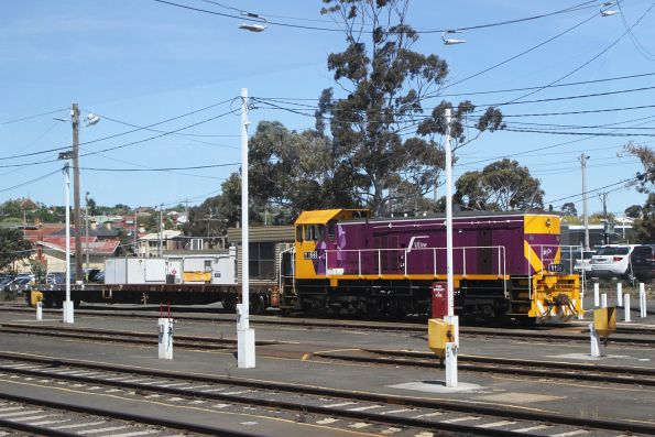 Y156 stabled in the yard at Geelong station